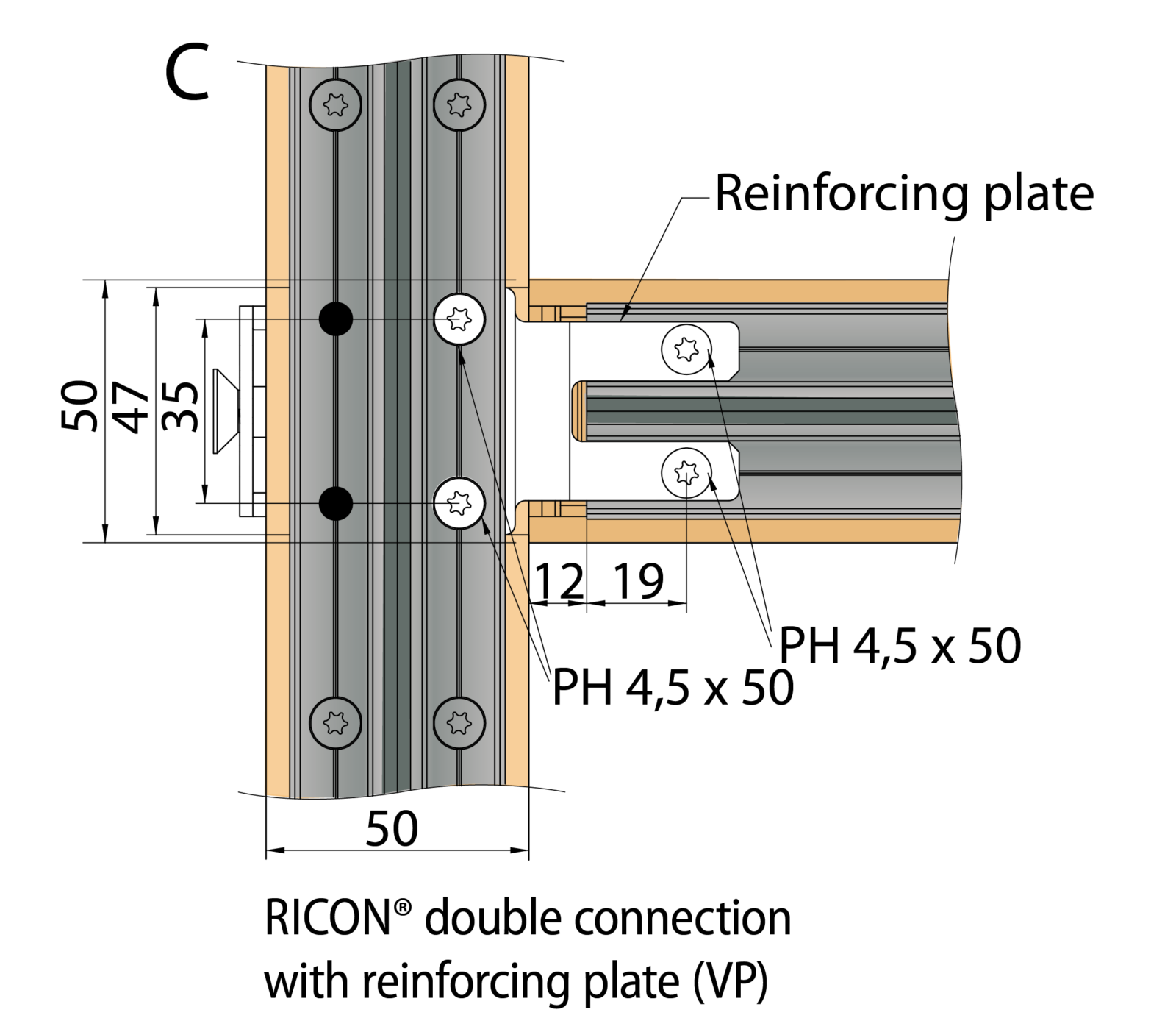 RICON®-system rampa-fitting connection (EAR) | Knapp Connectors