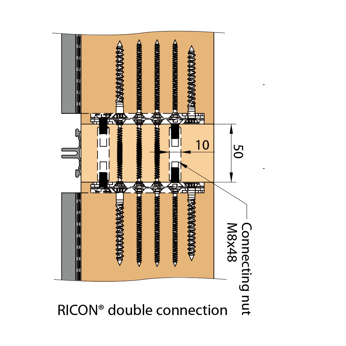 RICON®-system rampa-fitting connection (EAR)   Knapp Connectors