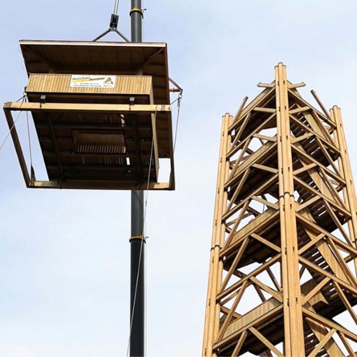 Goethe Tower / Frankfurt (D) – © Holzbau Amann GmbH