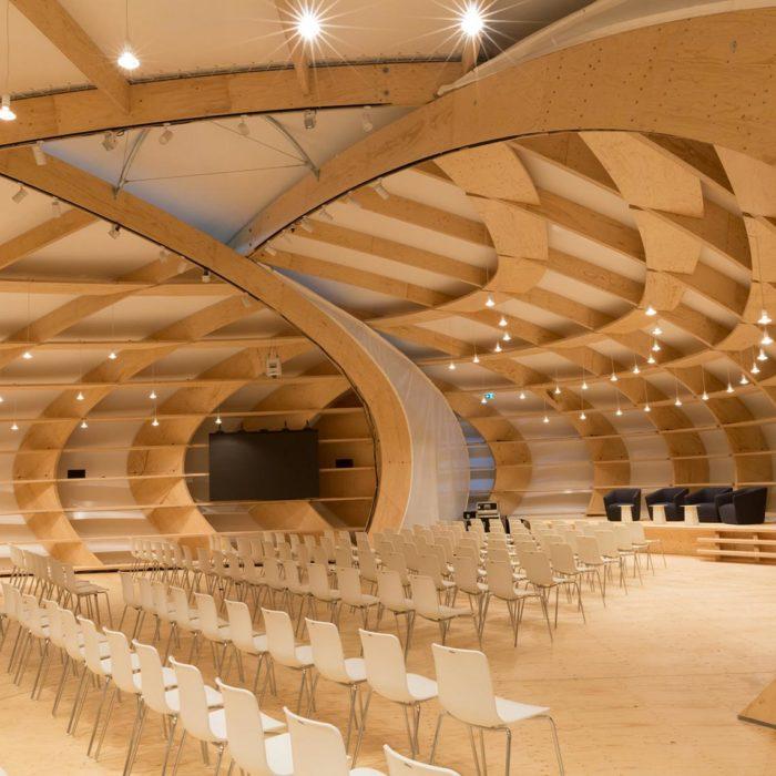Pavillon à la Foire du livre de Francfort | (c) Holzbau Amann GmbH