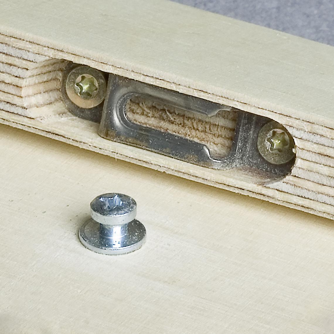 modular korpusverbinder knapp verbinder. Black Bedroom Furniture Sets. Home Design Ideas