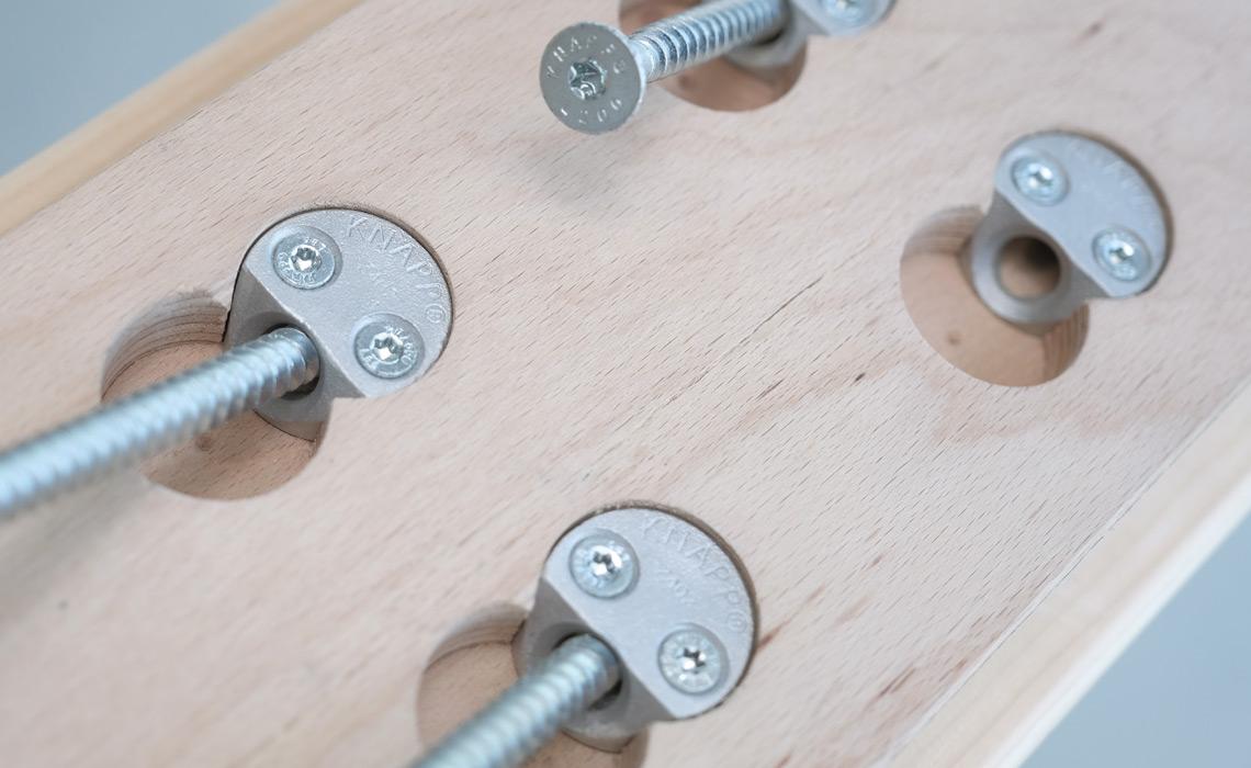 Knapp Unsichtbare Holzverbinder