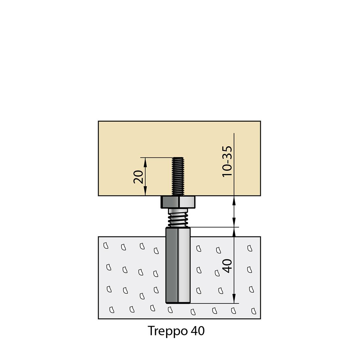 treppo solution de r glage et de fixation pour habillage d escalier b ton knapp verbinder. Black Bedroom Furniture Sets. Home Design Ideas